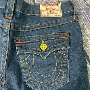 True Religion Jeans - True Religion Flap Pocket Straight Dark Wash Jeans